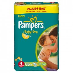 Couches pampers 4+ x66